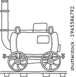 old fashioned steam engine... | Shutterstock .eps vector #1965586792