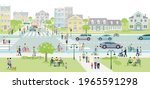 families and people on the... | Shutterstock .eps vector #1965591298