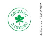 green organic label isolated on ... | Shutterstock .eps vector #1965596332