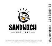 sandwich vector logo template... | Shutterstock .eps vector #1965608488