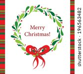 template christmas greeting... | Shutterstock .eps vector #196563482