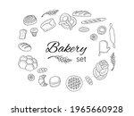 bakery doodels hand drawn...   Shutterstock .eps vector #1965660928