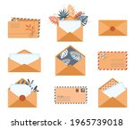 Set Of Envelopes In Different...