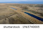 Aerial View Of Wetlands With...