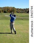 beautiful golf swing on a... | Shutterstock . vector #1965744