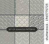repeat linear vector white art... | Shutterstock .eps vector #1965770725