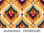 ikat geometric folklore... | Shutterstock .eps vector #1965832285