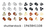 nuts icon set. vector linear...   Shutterstock .eps vector #1965841108