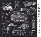 hand drawn vector illustration. ... | Shutterstock .eps vector #196595018