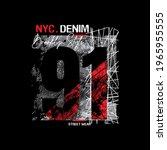 nyc denim 91  typography design ...   Shutterstock .eps vector #1965955555