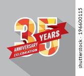 35th years anniversary... | Shutterstock .eps vector #196600115