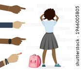 teenagers points fingers at...   Shutterstock .eps vector #1966005805