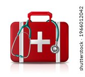 first aid help bag with... | Shutterstock .eps vector #1966012042