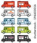 Set Of Food Truck Illustration...