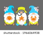 beach gnomes with flippers ... | Shutterstock .eps vector #1966064938