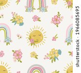 whimsical vector baby and... | Shutterstock .eps vector #1966085695