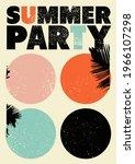 summer party typographic grunge ... | Shutterstock .eps vector #1966107298