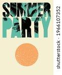 summer party typographic grunge ... | Shutterstock .eps vector #1966107352