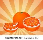 orange fruit  whole  halved ... | Shutterstock .eps vector #19661341