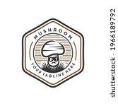 mushroom farming logo vector... | Shutterstock .eps vector #1966189792