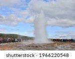 Strokkur Geyser  Iceland  ...