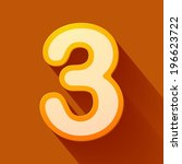 volume icons number  three.... | Shutterstock . vector #196623722