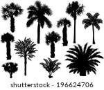 illustration with palm... | Shutterstock .eps vector #196624706