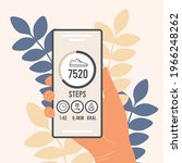pedometer in a mobile phone. an ...