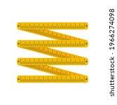 yellow folding rule. zigzag...