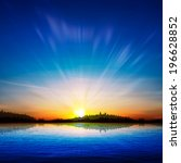 abstract nature sunrise... | Shutterstock .eps vector #196628852