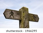 Signpost For Walkers