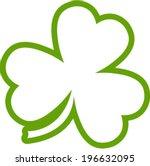lucky leaf irish clover for st. ... | Shutterstock .eps vector #196632095