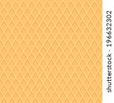 wafer background seamless.... | Shutterstock . vector #196632302