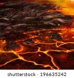 Volcanic Terrain Landscape...