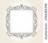 elegant floristic square vector ...   Shutterstock .eps vector #1966385398
