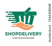 shop delivery vector logo... | Shutterstock .eps vector #1966408048