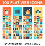 vector collection of flat and... | Shutterstock .eps vector #196641512