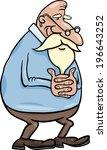 cartoon illustration of elder... | Shutterstock . vector #196643252