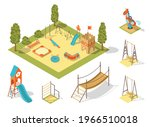 isometric playground concept...   Shutterstock .eps vector #1966510018