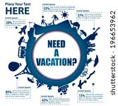 travel and tourism background... | Shutterstock .eps vector #196653962