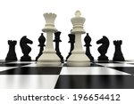 white king and queen standing... | Shutterstock . vector #196654412