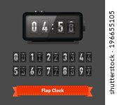 table flap clock and number... | Shutterstock .eps vector #196655105