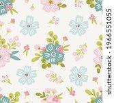 seamless floral pattern design... | Shutterstock .eps vector #1966551055