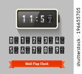 wall flap clock  number counter ... | Shutterstock .eps vector #196655705