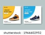 shoes social media post banner...   Shutterstock .eps vector #1966602952
