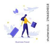 businesswoman or entrepreneur...   Shutterstock .eps vector #1966604818