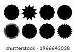 starburst promo black sticker... | Shutterstock .eps vector #1966643038