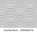 white seamless texture. wavy... | Shutterstock .eps vector #196668176
