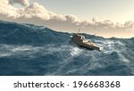 Fishing Boat Giant Wave Storm...