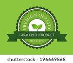 farm fresh product label on...   Shutterstock .eps vector #196669868
